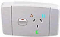 A typical Australian GPO mains wall outlet